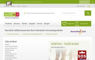 Berlinda Webseiten Screenshot