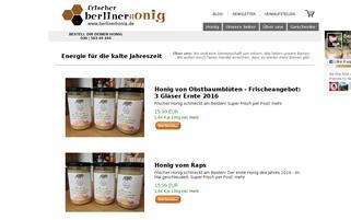 berlinerhonig.de Webseiten Screenshot