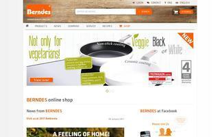 berndes.com Webseiten Screenshot