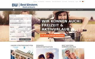 Best Western Webseiten Screenshot