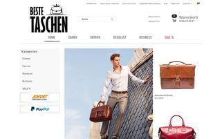 beste-taschen.de Webseiten Screenshot
