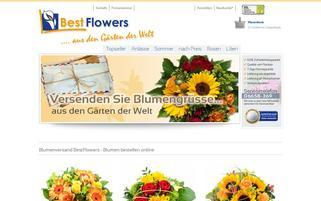 BestFlowers Webseiten Screenshot