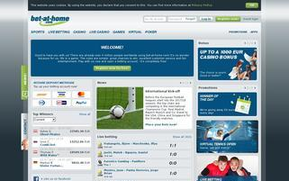 bet at home Webseiten Screenshot