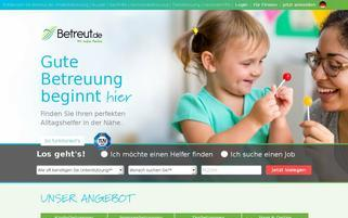 Betreut.de Webseiten Screenshot