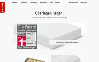 bett1.de Webseiten Screenshot