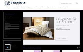 Betten Braun Webseiten Screenshot