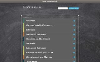 Bettwaren Store Webseiten Screenshot