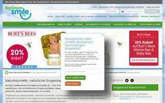 Big Green Smile Webseiten Screenshot