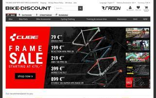 Bike Discount Webseiten Screenshot