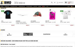 Bike-Mailorder Webseiten Screenshot