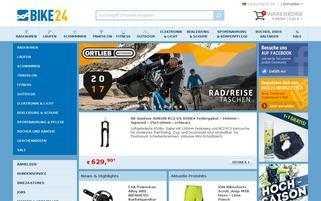 Bike24 Webseiten Screenshot