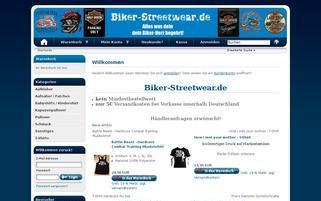 Biker Streetwear Webseiten Screenshot