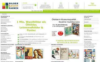 Bilder-Bilderrahmen.de Webseiten Screenshot