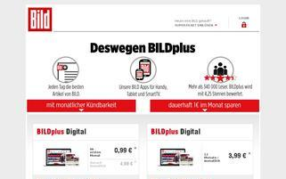 BILDplus Webseiten Screenshot