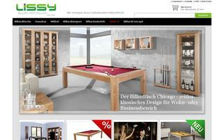 Billard-Lissy Webseiten Screenshot