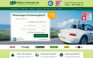 billiger-mietwagen Webseiten Screenshot