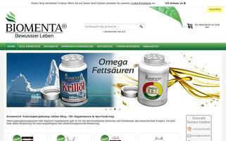 Biomenta Webseiten Screenshot