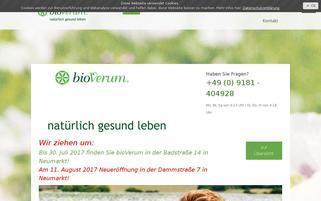 bioVerum Webseiten Screenshot