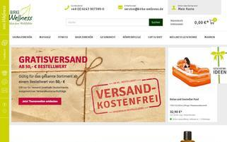 BIRKE Wellness Webseiten Screenshot