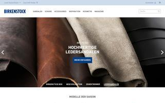 Birkenstock Webseiten Screenshot