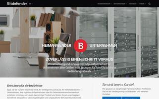 bitdefender.de Webseiten Screenshot