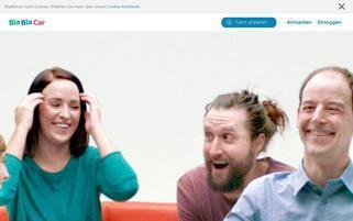 BlaBlaCar Webseiten Screenshot