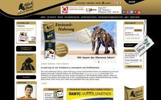 Black Bear Webseiten Screenshot