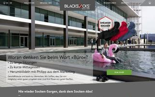 Blacksocks Webseiten Screenshot
