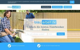 blauarbeit.de Webseiten Screenshot