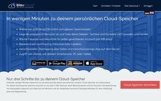 blaucloud.de Webseiten Screenshot