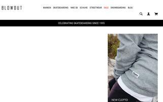 Blowout Shop Webseiten Screenshot