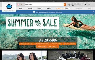 Blue Tomato Schweiz Webseiten Screenshot