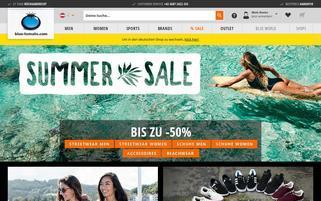 Blue Tomato Österreich Webseiten Screenshot