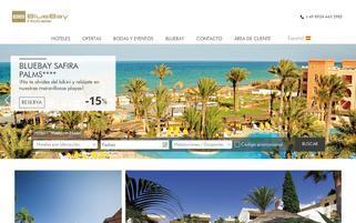 BlueBay Hotels Webseiten Screenshot