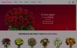 blumeideal.de Webseiten Screenshot