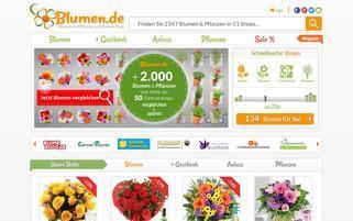 blumen.de Webseiten Screenshot