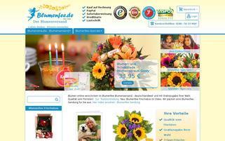 Blumenfee Webseiten Screenshot