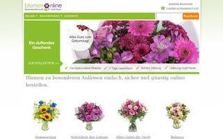 Blumenonline Webseiten Screenshot
