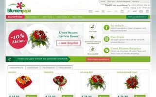 blumenpapa.at Webseiten Screenshot
