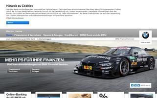 BMW Bank Webseiten Screenshot