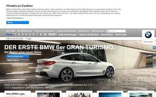 BMW Webseiten Screenshot