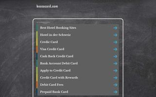 boccocard.com Webseiten Screenshot