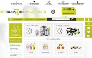 Bodybrands4you Webseiten Screenshot