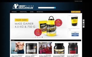 Bodybuilding Shop Webseiten Screenshot