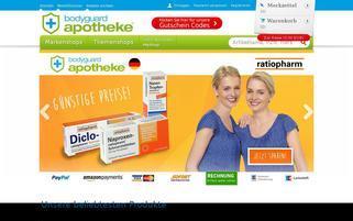 Bodyguardapotheke Webseiten Screenshot
