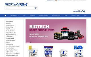 Bodylab24 Webseiten Screenshot