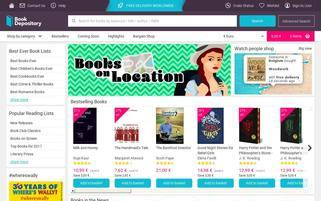 Book Depository Webseiten Screenshot
