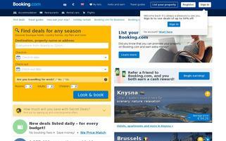 Booking.com Webseiten Screenshot