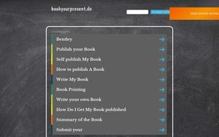 bookyourpresent.de Webseiten Screenshot
