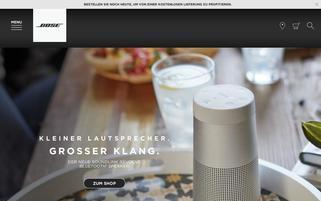 Bose Webseiten Screenshot